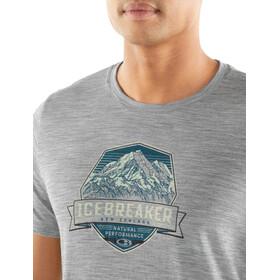 Icebreaker Tech Lite Cook Crest SS Crewe Shirt Herre metro heather